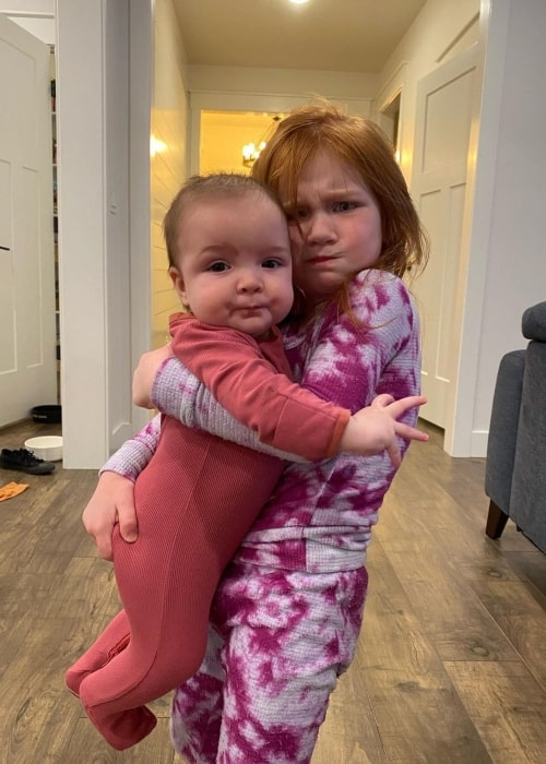 Adley McBride as seen in a picture that was taken with her younger sister Navey May McBride in March 2021