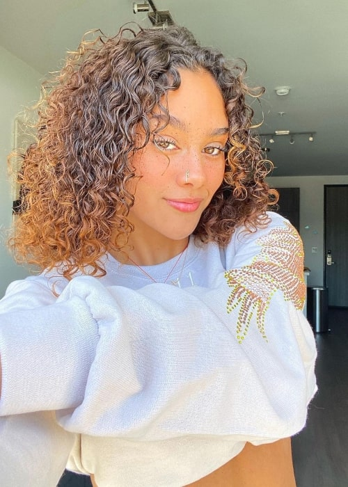 Alicia Montes as seen in a selfie that was taken in June 2021