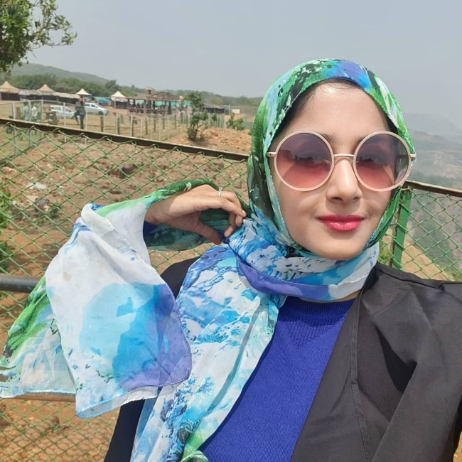 Anjum Farooki as seen while taking a selfie in March 2021