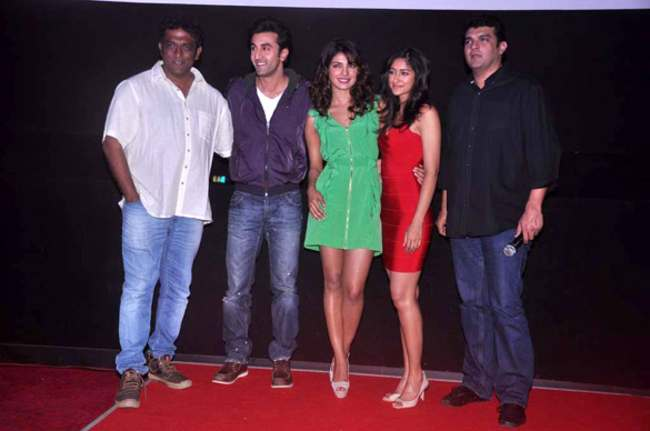 Anurag Basu as seen with the cast of Barfi in 2012
