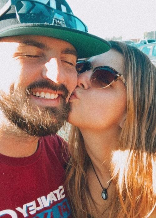 Aria Wallace in a selfie with Tyler Thiel in Denver, Colorado