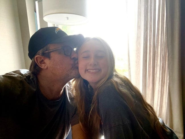 Benjamin King with his daughter in Boston, Massachusetts in July 2021
