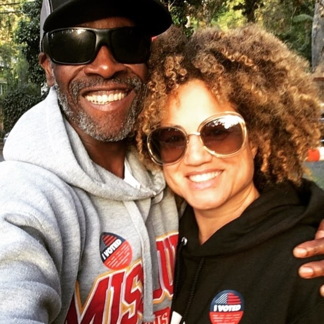 Bridgid Coulter with Don Cheadle after having voted in June 2018