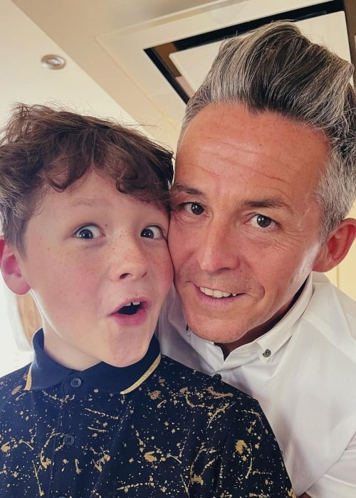Callum Beales as seen in a selfie with his father Paul Patrick Beales in June 2021