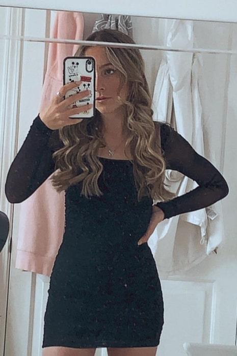 Capri Everitt sharing her selfie in March 2021