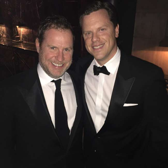 Chris Henchy (left) and Willie Geist seen in 2015