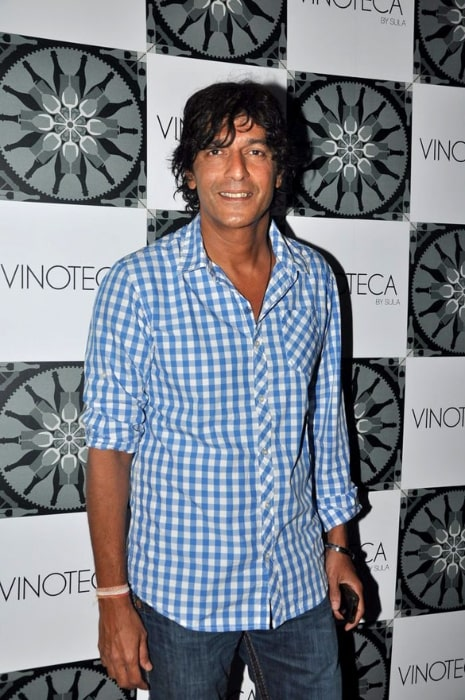 Chunky Pandey posing for the camera at the success party of the film 'The Forest' in 2012