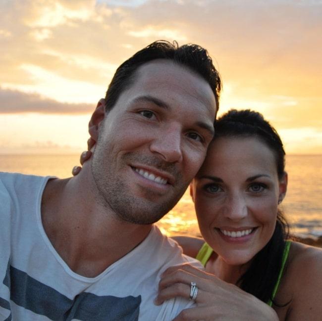 Daniel Cudmore as seen while smiling in a selfie alongside Stephanie Cudmore