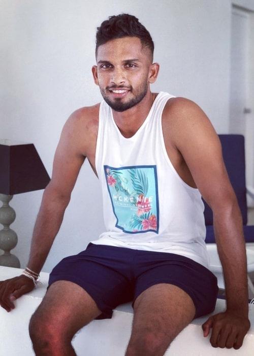 Dasun Shanaka as seen in an Instagram Post in October 2020