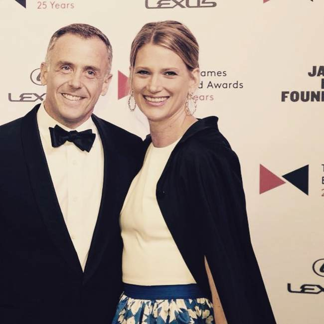 David Eigenberg as seen with wife Chrysti in 2015