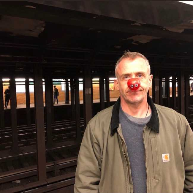 David as seen celebrating Red Nose Day in 2019