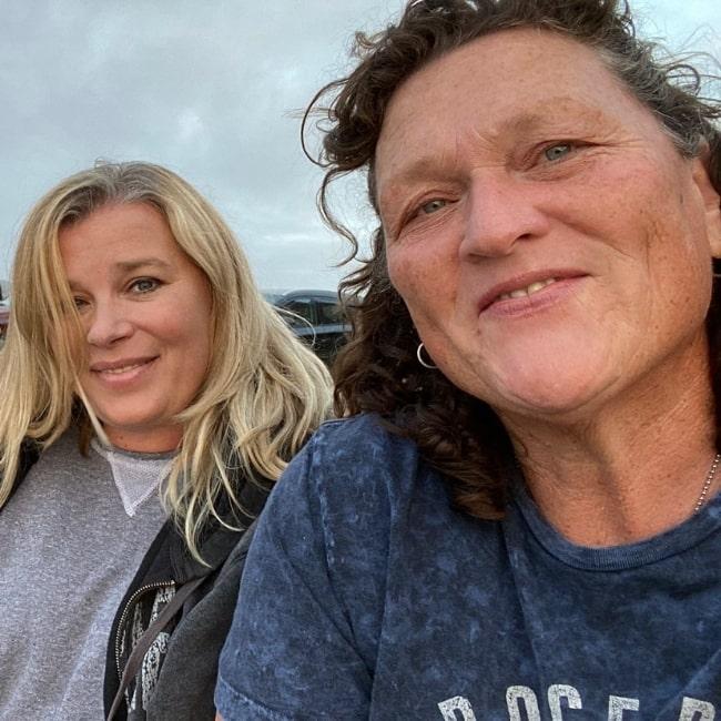 Dot-Marie Jones (Right) as seen while taking a selfie with Bridgett Casteen- Jones in June 2021