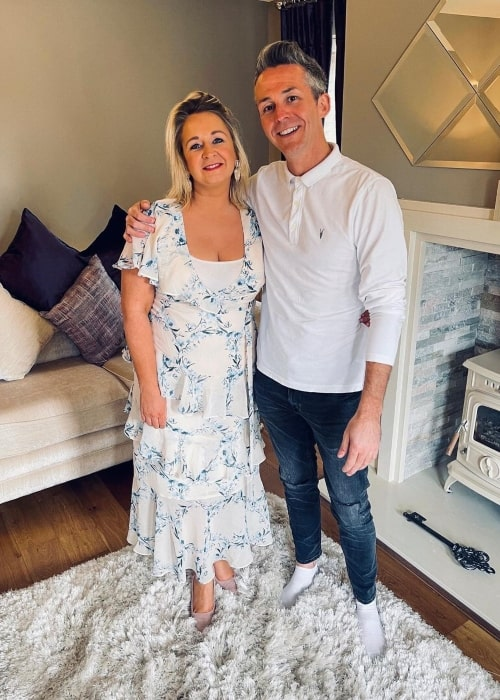 Edelle Beales as seen in a picture with her husband Paul Patrick Beales in April 2021