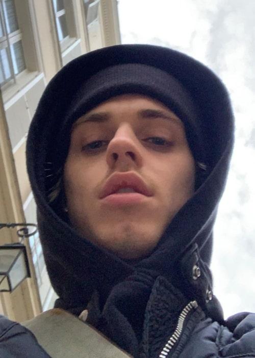 Félix Pacaut as seen in a selfie that was taken in Paris, France in November 2020