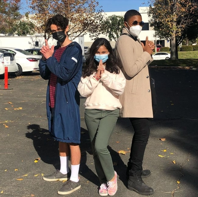 From Left to Right - Charlie Bushnell, Tess Romero, and Brandon Severs as seen while posing for the camera in December 2020