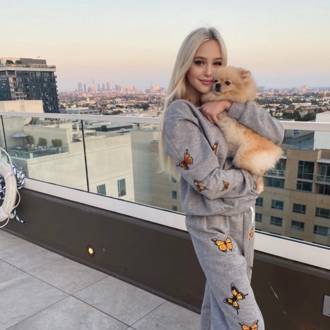 Havanna Winter as seen in a picture that was taken with her dog Vanilla in Los Angeles, California in April 2021