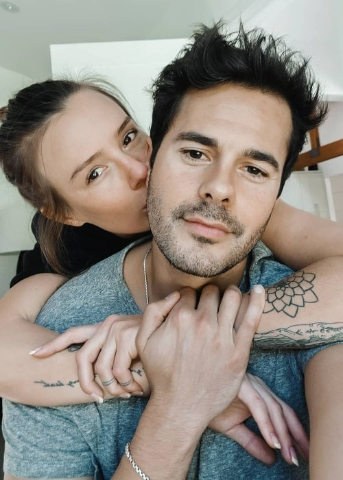 Jayson Blair and Natalya in an Instagram post in June 2021