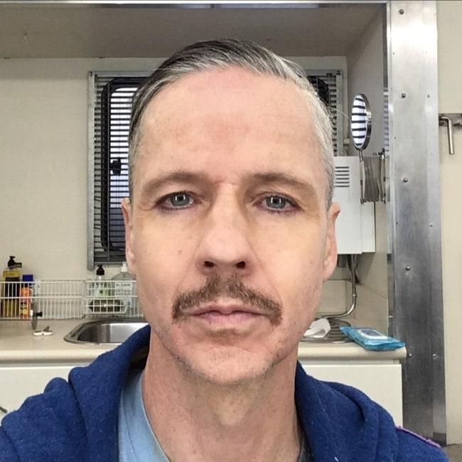 John Cameron Mitchell clicking a selfie in Brisbane, Queensland, Australia in June 2021