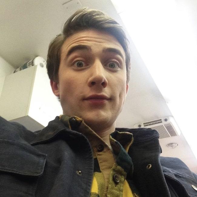 Jordan Burtchett as seen while taking a selfie in 2017