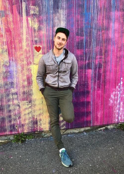 Jordan Burtchett posing for the camera in June 2019