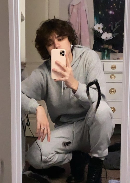 Jordan Suaste as seen in a selfie that was taken in February 2021