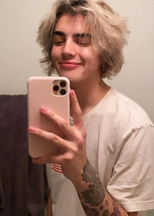 Jordan Suaste as seen in a selfie that was taken in May 2021