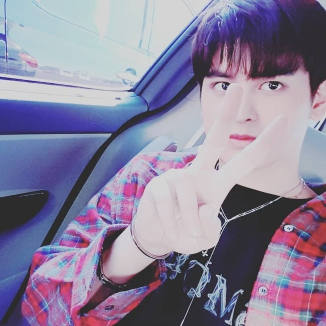 Jung Chan-woo as seen in a selfie that was taken in August 2019