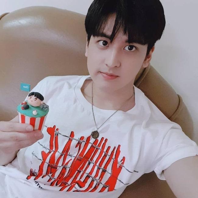 Jung Chan-woo as seen in a selfie that was taken in October 2018