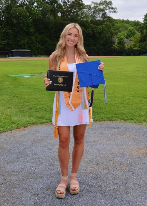 Katie Feeney as seen in a picture that was taken on the day of her graduation in June 2021