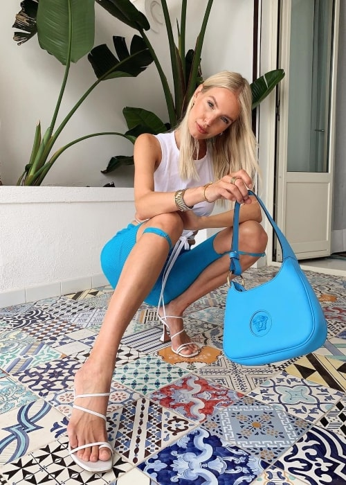Leonie Hanne as seen in a picture that was taken in Capri, Italy in July 2021