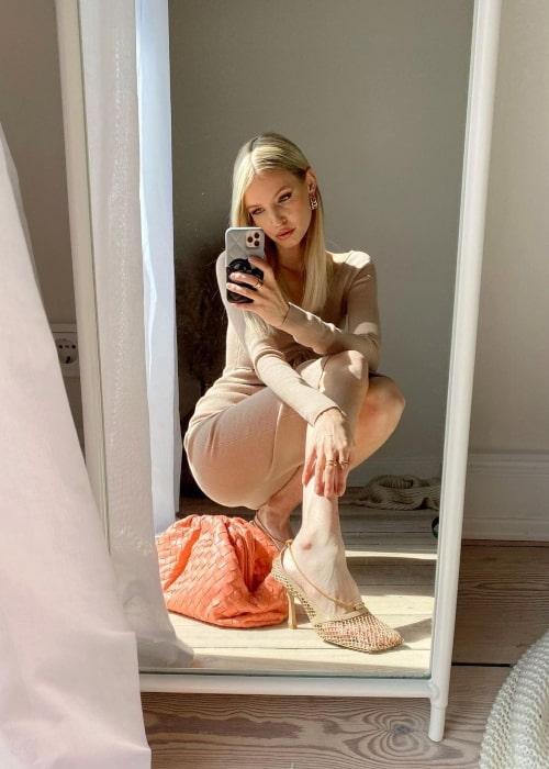 Leonie Hanne as seen in a selfie that was taken in May 2021