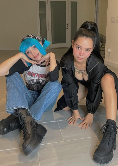 Liza Anokhina and fellow TikTok star and singer Bella Poarch in a picture that was taken in April 2021