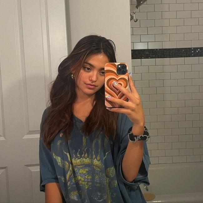 Maia Reficco as seen while taking a mirror selfie in Atlanta, Georgia in June 2021