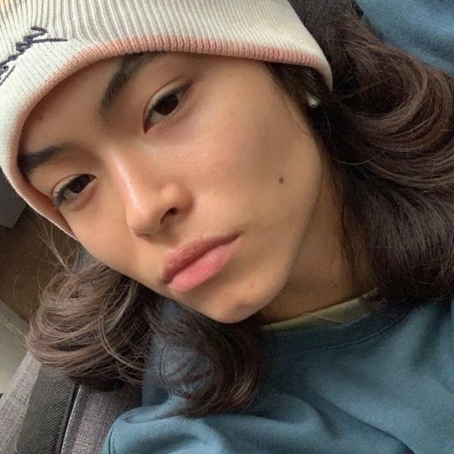 Maryel Uchida as seen in a selfie that was taken in March 2021