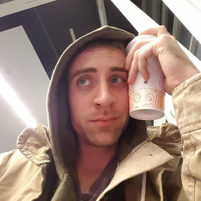 Matthew Zuk clicking a selfie at Indianapolis International Airport in November 2015