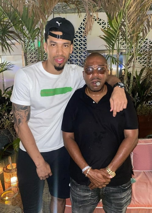 N.O.R.E. (Right) and Danny Green in July 2021