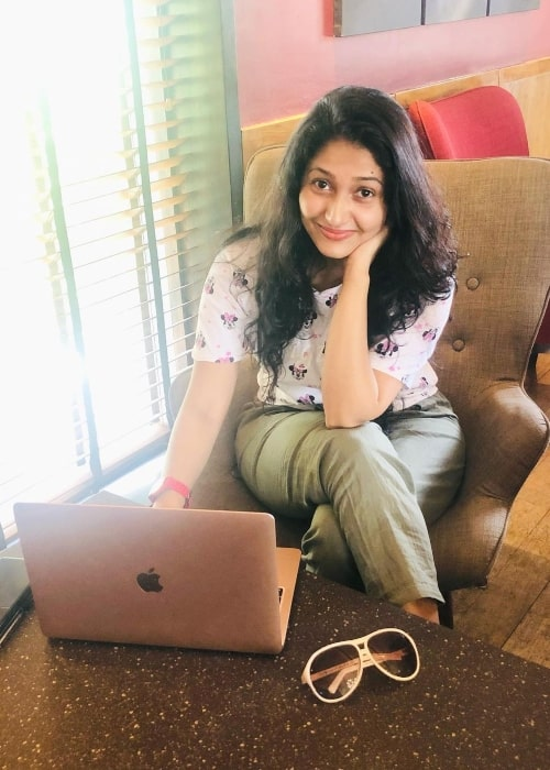 Nayanathara Wickramaarachchi as seen in a picture that was taken in December 2020