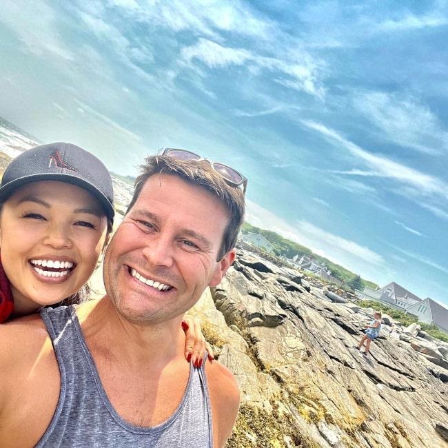 Nikki SooHoo and Elias in a selfie in Portland, Maine