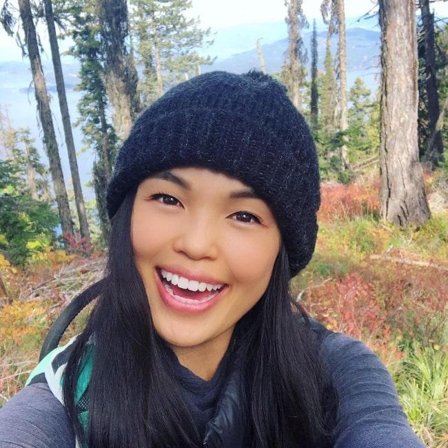 Nikki SooHoo smiling in a selfie in Idaho, United States in October 2020