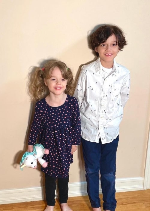 Nolan River and his sister Zoë in an Instagram post in April 2021