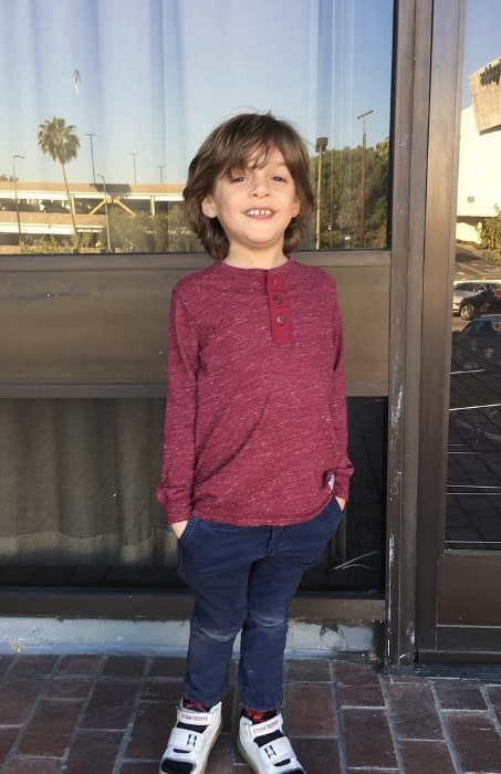Nolan River pictured while having some fun at an audition in Los Angeles, California in 2018