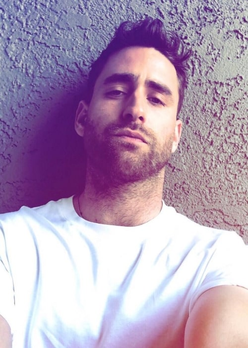 Oliver Jackson-Cohen as seen while taking a selfie in Los Angeles, California in April 2019