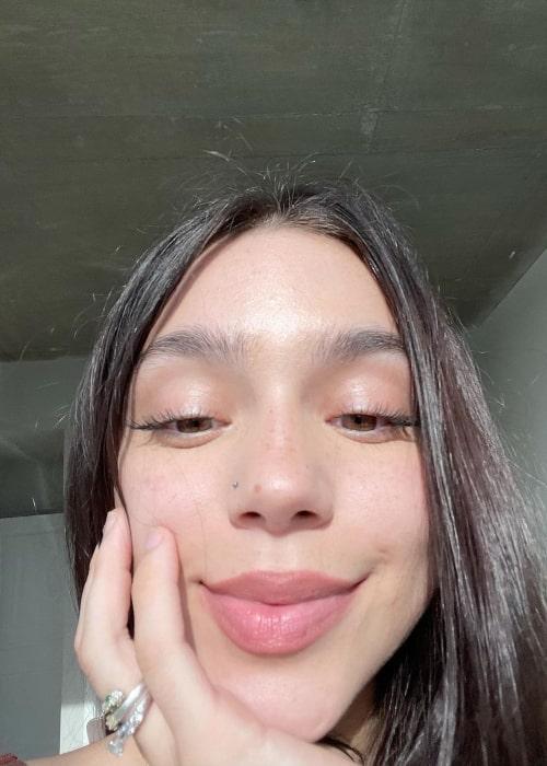Paeka as seen in a selfie that was taken in June 2021