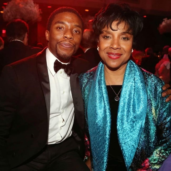 Phylicia Rashad in a picture with Chadwick Boseman