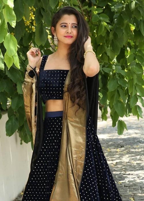 Preethi Asrani at Taj Krishna in Hyderabad, Telangana in May 2019