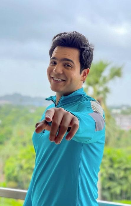 Raj Anadkat smiling in an Instagram post in June 2021