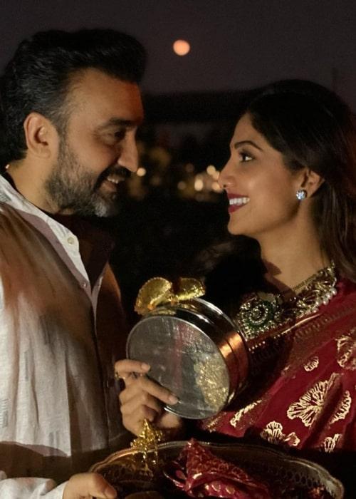 Raj Kundra and Shilpa Shetty, as seen in November 2020