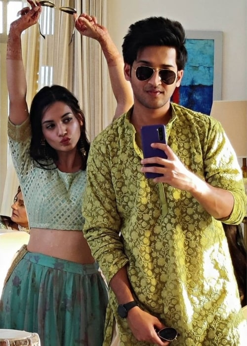 Rajat Verma as seen in a selfie with his co-star actress Shagun Sharma in April 2021