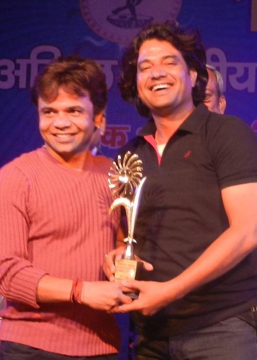 Rajpal Yadav (Left) and Shamim Azad in 2016