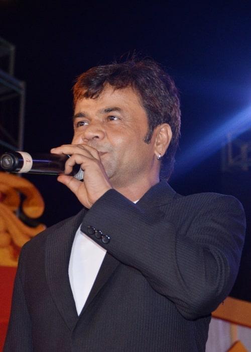 Rajpal Yadav as seen while speaking at Odia Filmfare Awards in Cuttack, Odisha in 2016